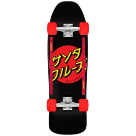 Santa Cruz Japanese Dot Complete Cruiser - Black 31.7