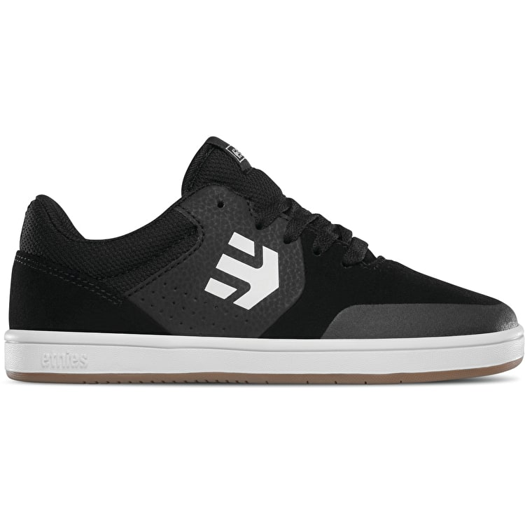 Etnies Marana Kids Skate Shoes - Black/Gum/White