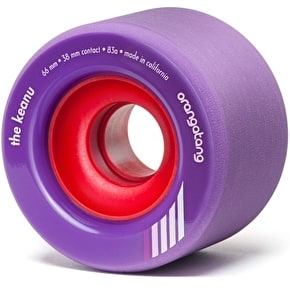 Orangatang Keanu 66mm Longboard Wheels - Purple (Pack of 4)