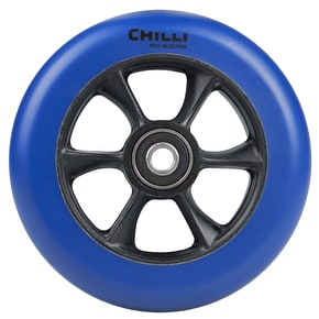 Chilli Pro Turbo 110mm Scooter Wheel w/Bearings - Blue/Black