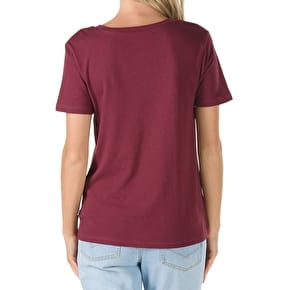 Vans Flying V Crew Womens T-Shirt - Burgundy