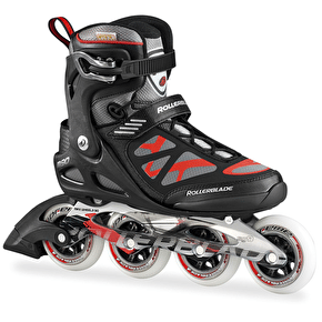 B-Stock Rollerblade Macro 90 Black Red Mens Inline Skates - UK 12 (Box Damage)