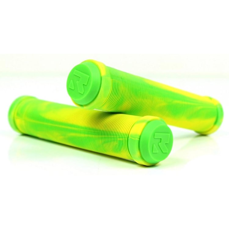 Root Industries Scooter Grips - Green/Yellow