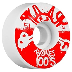 Bones OG 100'S #10 V4 Skateboard Wheels - White 51mm (Pack of 4)
