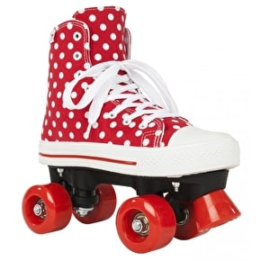 B-Stock Rookie Quad Skates - Canvas High Polka Dot Red/White UK 5 (Box Damage)