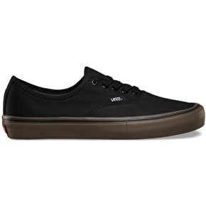 B-Stock Vans Authentic Pro Shoes - (Canvas) Black/Gum UK 8 (Box Damage)