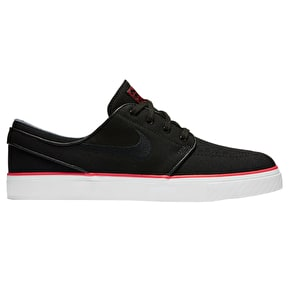 Nike SB Zoom Stefan Janoski Canvas Skate Shoes - Black/Max Orange