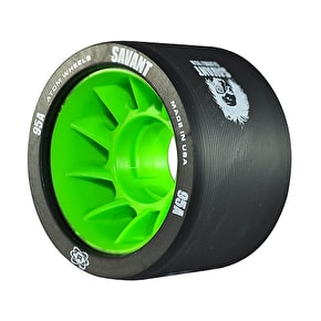 Atom Savant Roller Derby Wheels - Black 59mm 95A