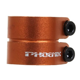 Phoenix Smooth Double Clamp - Anodized Orange