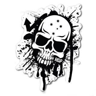 MGP Skull Splat Sticker - Black