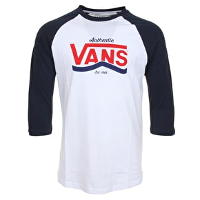Vans Authentic Stripe Raglan T-Shirt - White/Navy