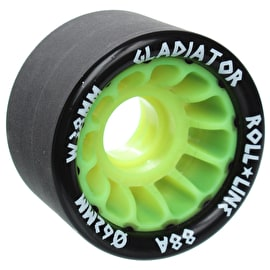 Roll Line Gladiator Roller Derby Wheels 62mm 88a - Green