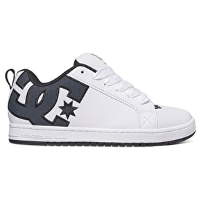 DC Court Graffik SE Skate Shoes - White Smooth