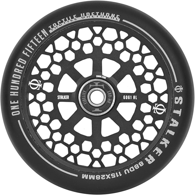 Oath Stalker Forged Alloy Core (Single) Scooter Wheel 115mm - Anodised Satin Black