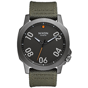 Nixon Ranger 45 Nylon Watch - Gunmetal/Surplus
