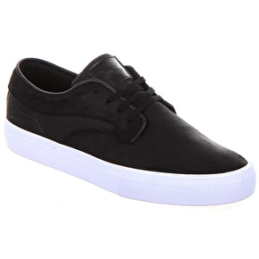 Lakai Riley Hawk Shoes - Black Oiled Suede