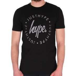 Hype Lockup Reflective T-Shirt - Black