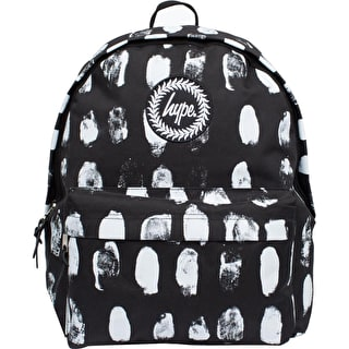 Hype Fingerprint Backpack - Black/White
