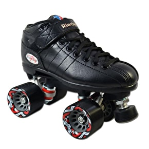 B-Stock Riedell R3 Speed Skates - Black - UKJ13 (Box Damage)