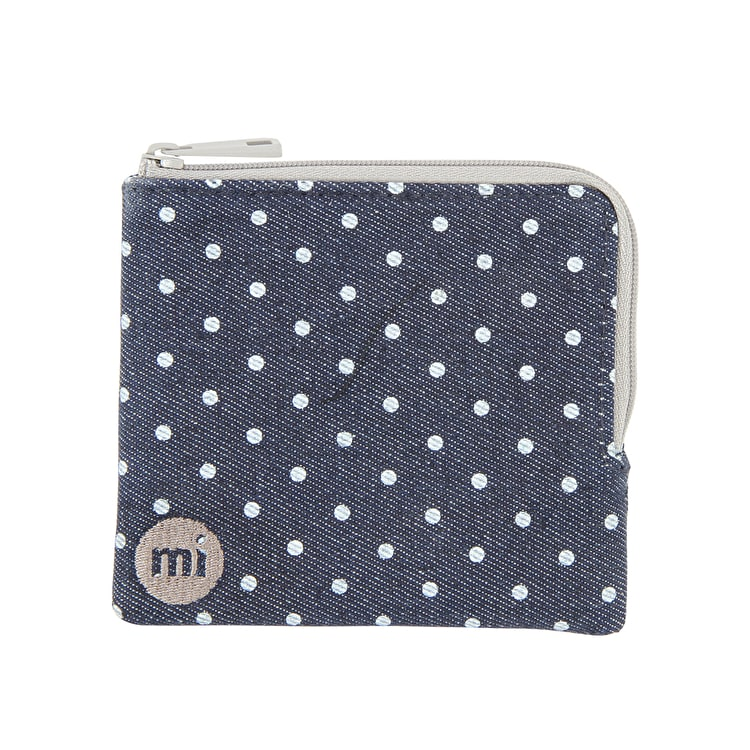 Mi-Pac Denim Spot Coin Holder - Indigo/White