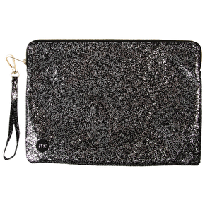 Mi-Pac Large Pouch - Glitter Silver/Black