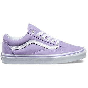 Vans Old Skool Skate Shoes - Lavender/True White