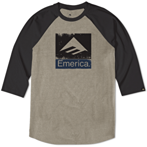 Emerica Combo Rough Raglan - Black/Olive