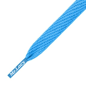 Mr Lacy Shoelaces - Flatties Cyan