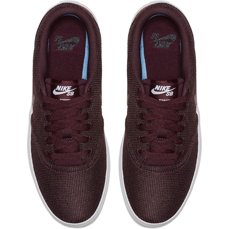 Nike SB Check Solar Womens Skate Shoes - Night Maroon/Night Maroon