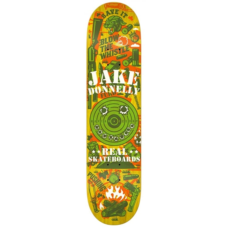 Real Overlay Skateboard Deck - Donnelly 8.12""