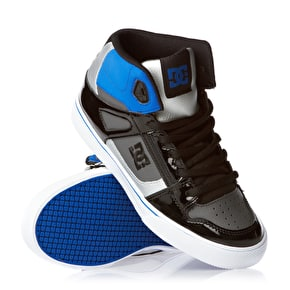DC Spartan Hi Youth Skate Shoes - Black/Royal/Battleship - UK Junior 11 (B-Stock)