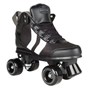 Rookie Deluxe Quad Roller Skates - Black/White/Grey