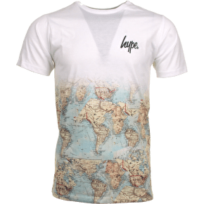 Hype Vintage Map Fade T-Shirt