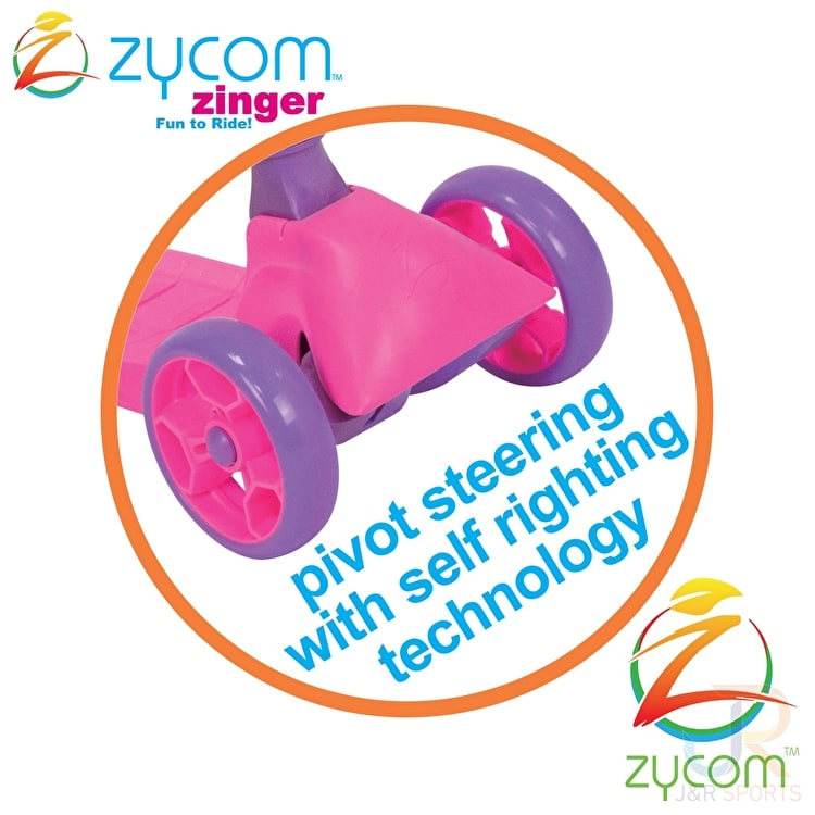 Zycom Zinger 3 Wheel Cruiser Scooter - Pink/Purple