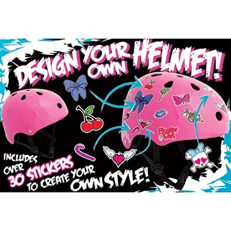 SFR Essentials Sticker Skate Helmet - Pink