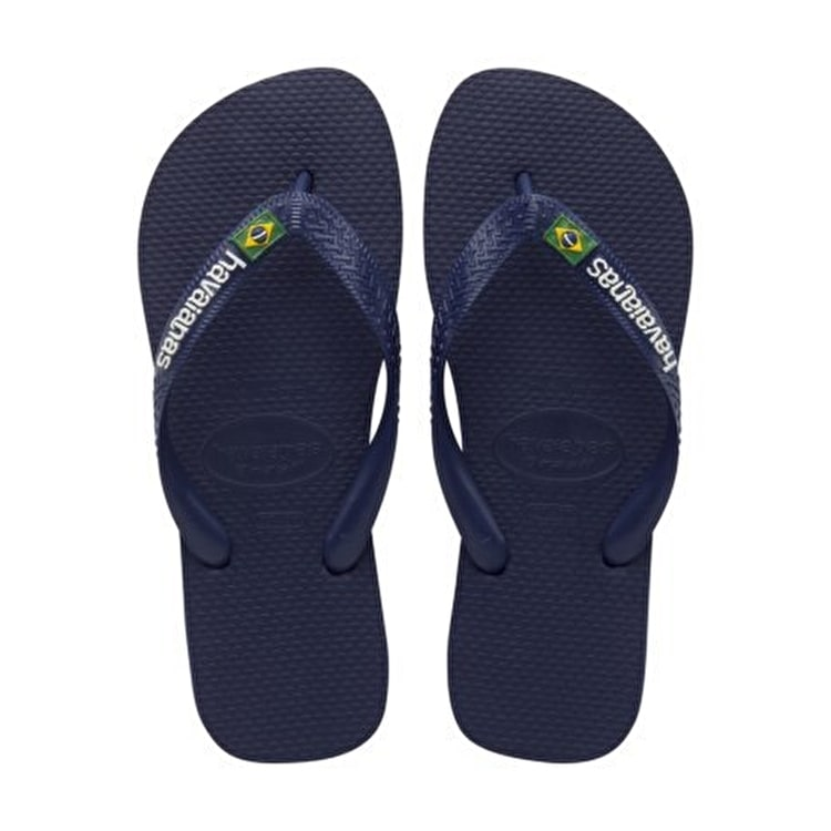 Havaianas Brazil Logo - Navy Blue Junior UK8/9 (B-Stock)