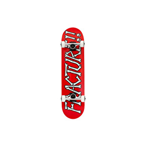 Fracture Broken Series Complete Skateboard - Red 7.5