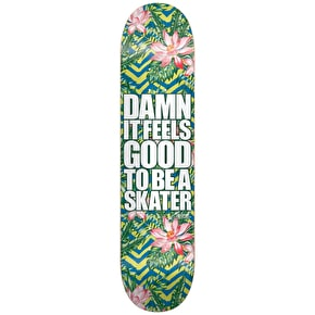 Blind Damn Plantlife V2 Skateboard Deck - Green/Blue 8