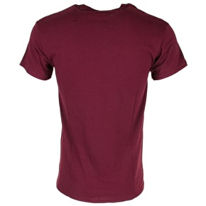 Hype T-Shirt - Nature Script - Burgundy