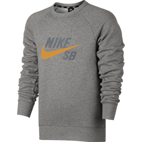 Nike SB Icon Graphic Crewneck - Grey Heather/Circuit Orange