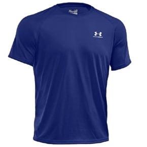 Under Armour Tech Short Sleeve T-Shirt - Royal/White