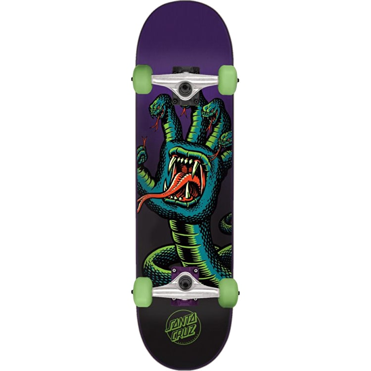 Santa Cruz Hissing Hand Complete Skateboard - Purple/Green 8.2""
