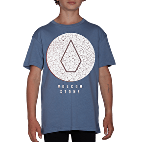 Volcom Kids Cracked T-Shirt - Blue Plum