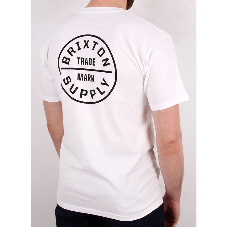 Brixton Oath T Shirt - White/Black