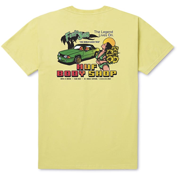Huf Body Shop T-Shirt - Sunset Yellow