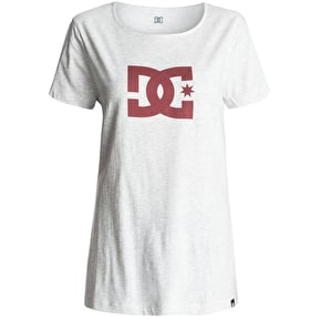 DC Star Womens T-Shirt - Light Grey Heather