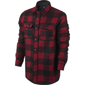 Nike SB Buffalo Plaid Shirt Jacket - Red