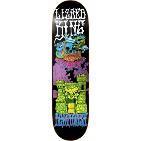 Deathwish Skateboard Deck - Blacklight Lizard King 8.25