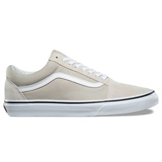 Vans Old Skool Skate Shoes - Silver Lining/True White