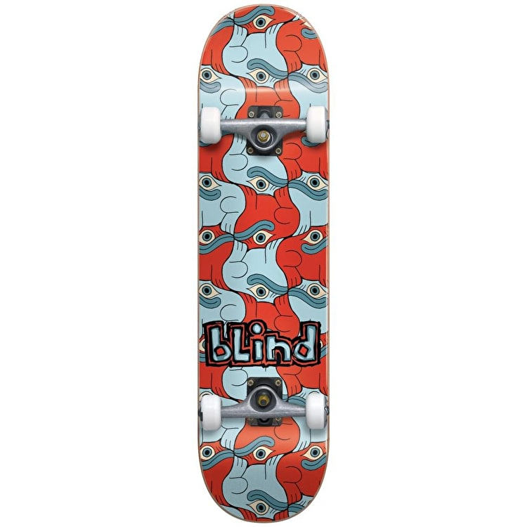 "Blind Tile Style Youth Premium Complete Skateboard 7.25"" - Red/Blue"